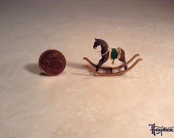Miniature rocking horse made of wood - Item number: MRH2 brown