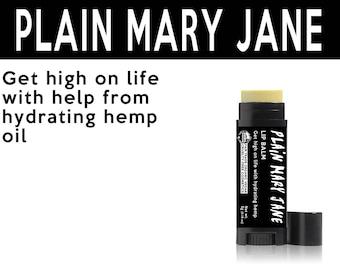 Plain Mary Jane Lip Balm. Fair Trade Organic Vegan Cruelty-Free Cosmetics. 5% of Proceeds Proudly Go To Grassroots Charities