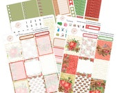 Apple Cinnamon, Planner Stickers Erin Condren, Planner Stickers, Christmas Sticker Kit, Weekly Sticker Kit, Winter Sticker Kit, ECLP, WK-24