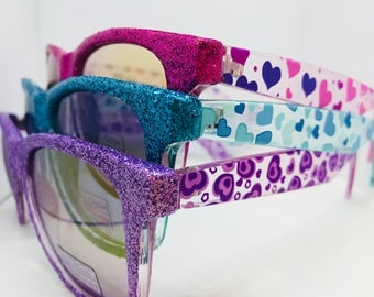 Glitter Heart Sunglasses for everyday use/beach trip/everything