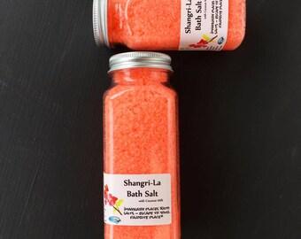 Shangri-la Bath Salts, Soaking Salt, Epsom Salts, Pretty Gift, Milk Bath Salt, Neon Orange, Bath Soak, Coconut Milk Bath, Milk Salts