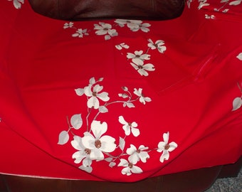c-vintage cotton tablecloth napkins set