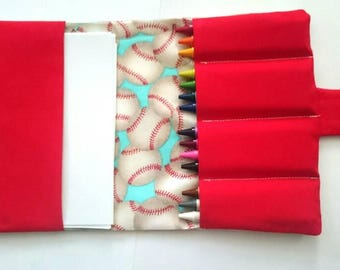 Crayon holder. Crayon organizer. Baseball kids gift. Soft toy. On the go activities. Car activities. Car games. Birthday gift. Boys gift