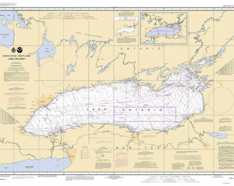 Lake Ontario 2005 Nautical Map Reprint - Great Lakes 002