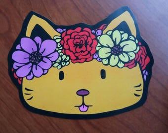 Flower Crown Kitty