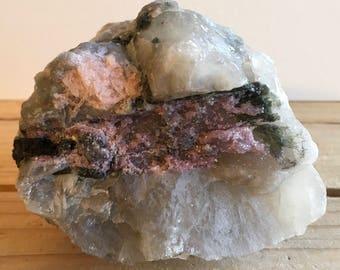 Pink Tourmaline in Matrix Natural Stone, Spiritual Stone, Healing Stone, Healing Crystal