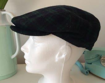 Vintage wool beret cap