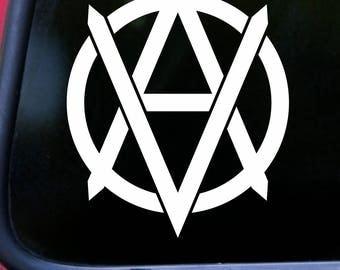 "VEGANARCHY 5.5"" x 4.5"" Vinyl Decal Sticker Vegan Anarchism *Free Shipping*"
