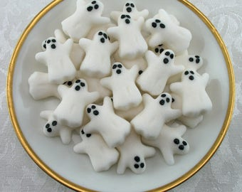32 Ghost Shaped Sugar Cubes for Halloween, Tea Party, Party Favor