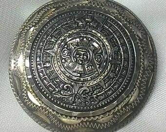 Aztec Sterling Slider Brooch