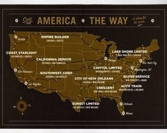 Amtrak Railroad Map, Railway Map, Amtrak,Amtrak Trains,US Train Map,Train Map, Railroad Map,