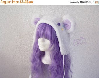 SALE Snow teddy hat (lilac)