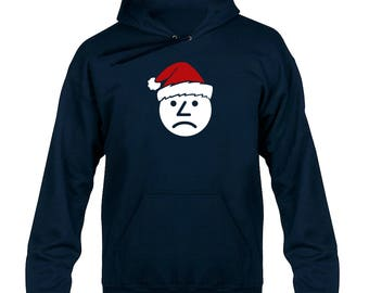 Sad Onion Santa Hat Christmas Hoody Hoodie Hooded Sweater