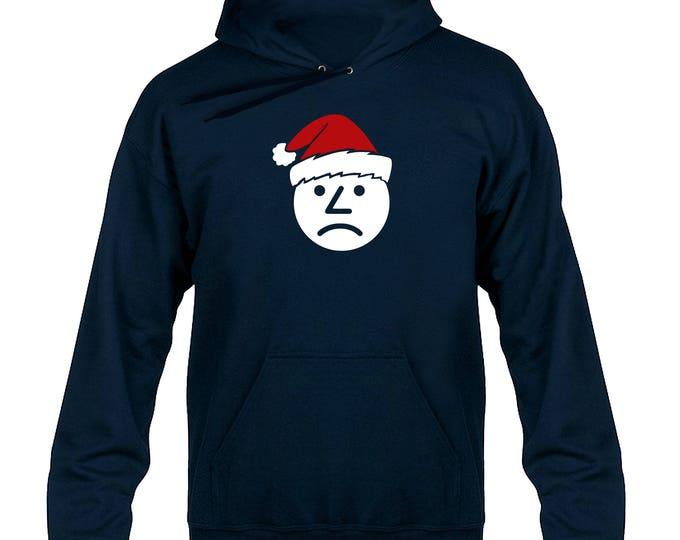 Sad Onion Santa Hat Christmas Hoody Hoodie Hooded Sweater