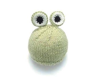 Frog Newborn Hat • Frog Baby Hat • Frog Newborn Photo Prop • Frog Baby Gift • Frog Baby Costume