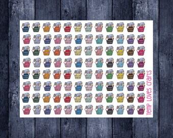 Doodle Laundry Basket cup stickers for erin condren life planner, filofax, daytimer, plum planner, kikki k or any planner