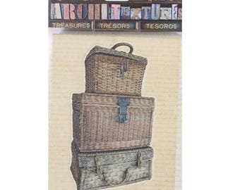 7 Gypsies Architextures Treasures Architext Treasures STACKED WICKER TRUNKS Stickers Embellishments 7g25074 c005