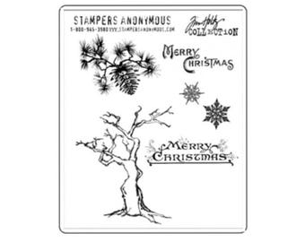 Tim Holtz WINTER SKETCHBOOK Cling Stamp set STAMPERs ANONYMOUS CMS094 1.cc11
