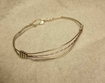 Sterling Silver wire wrapped Bracelet
