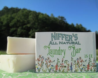 Niffer's All Natural Laundry Bar 3.5 oz.
