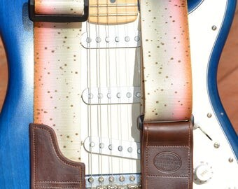 Guitar Strap or Bass Strap | Fish Guitar Strap |  Electric or Acoustic Guitar Strap  | Handmade Guitar Players Gear | Music Instrument Strap