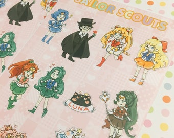 Sticker Sheet - Sailor Scout Collection