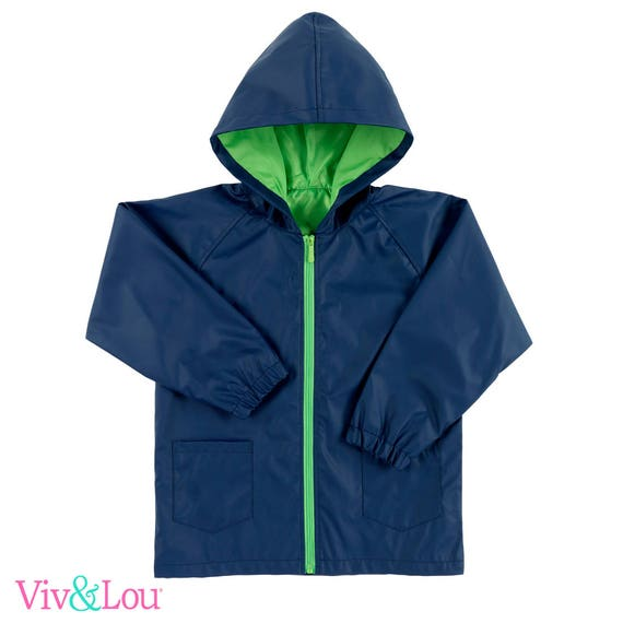 boys raincoat personalized rain coat back to school rain jacket monogram rain jacket