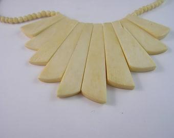 Modernistic Bone Necklace