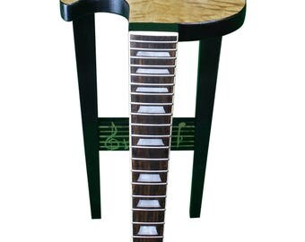 Guitar End Table - Quilted Maple