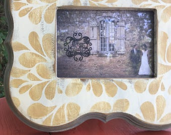 5x7 hand painted distressed frame