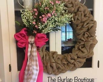 Summer Lovin' Burlap Wreath