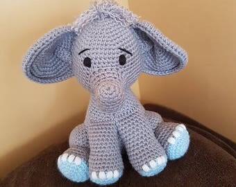 Elephant Stuffed Animale *** Elephant Nursery Toy ** Baby's first Elephant
