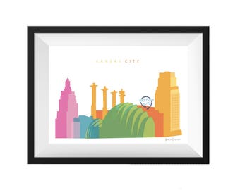 Kansas City Missouri Skyline Print