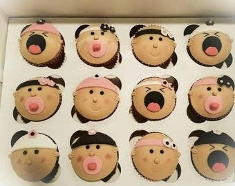 baby edible cupcake toppers