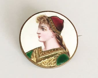 1800s Antique German Brooch Art Nouveau Pin