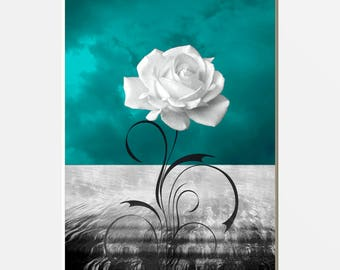 Teal Bathroom Decor Etsy