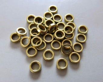 100pcs Raw Brass Round Ring 6mm - F805