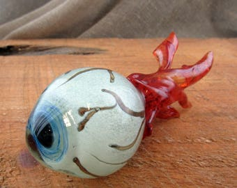 Hand Blown Glass Eyes, Eyeball Art Sculpture