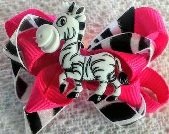 Cynthia Dog Bows ZEBRA Boutique Bow