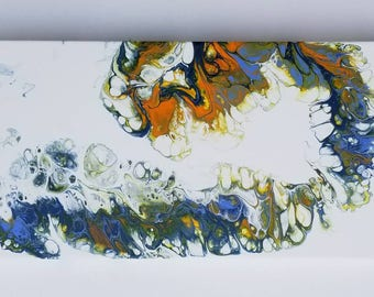 134 acrylic fluid painting