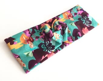 Mermaid Lagoon Headband, Knot Headband, Stretchy Headband