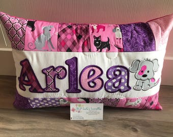Puppy Pillow Case personalized, 12x18 inches