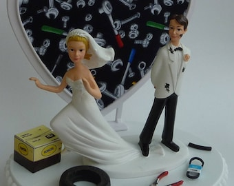grease monkey wedding cake topper motorcycle cake top etsy 14906