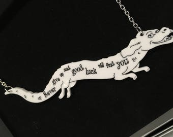 The Never Ending Story Falkor necklace - Luck Dragon