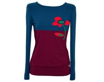 Iza Fabian - long sleeve TWO COLORS 25 long sleeve blue petrol Red