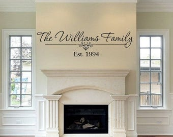 CLEARANCE SALE Family Name Wall Decal - Black - Family - Personalized Last Name