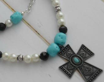 Faith Necklace, Necklace , Christian Jewelry, Gift-For-Her, Christian Necklace, Cross Jewelry, Gift-For-Mom, Jewelry Gift