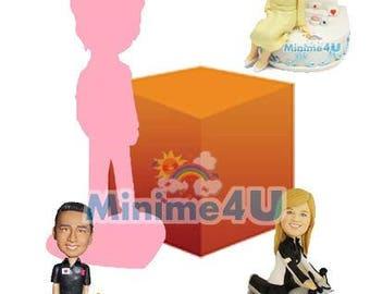 bespoke fully personalized custom figurine with background 100% handmade (Free Shipping Worldwide)