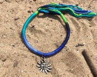 Multi Colored Sun Charm Bracelet