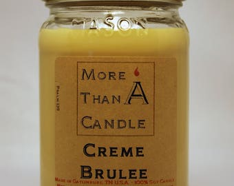 16 oz Creme Brulee Soy Candle